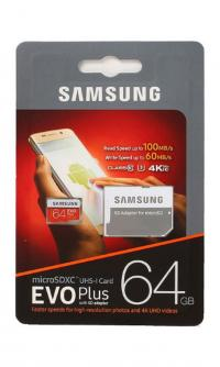 Карта памяти Samsung MicroSDXC EVO PLUS 64 Gb MB-MC64GA/RU 100Mb/s